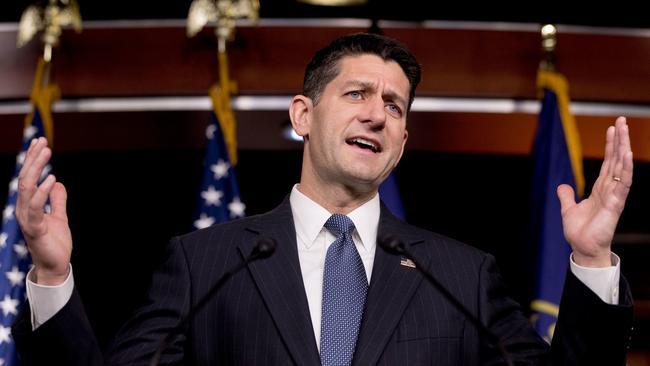 House Speaker Paul D. Ryan speaks Oct. 26 in Washington. None