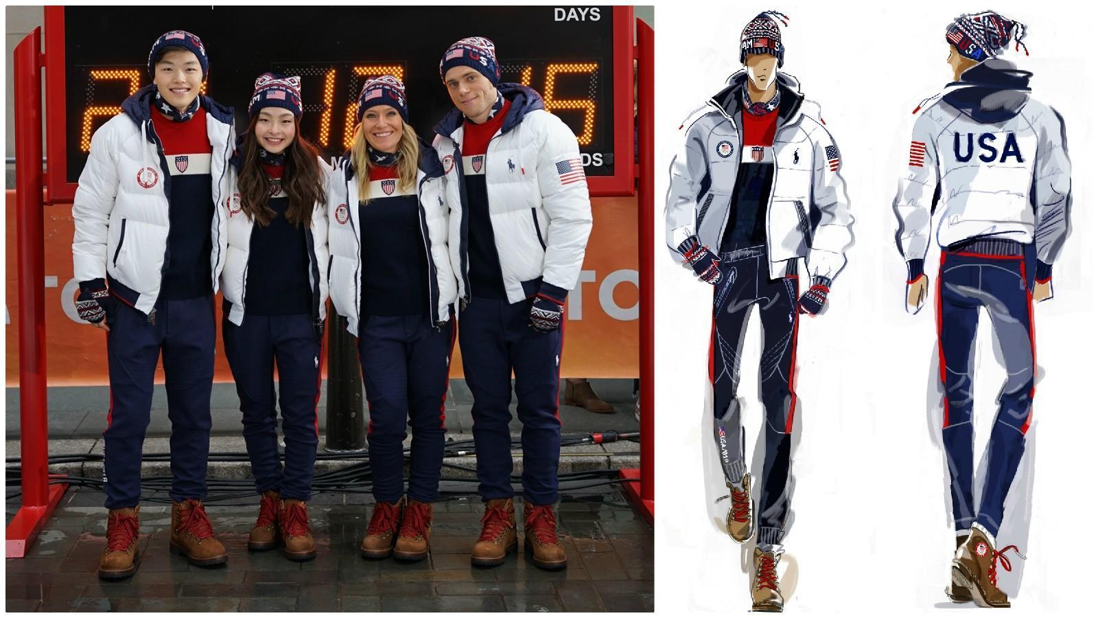 Ralph Lauren unveils retro-inspired closing ceremony uniforms for the 2018 Winter Olympic Games ...