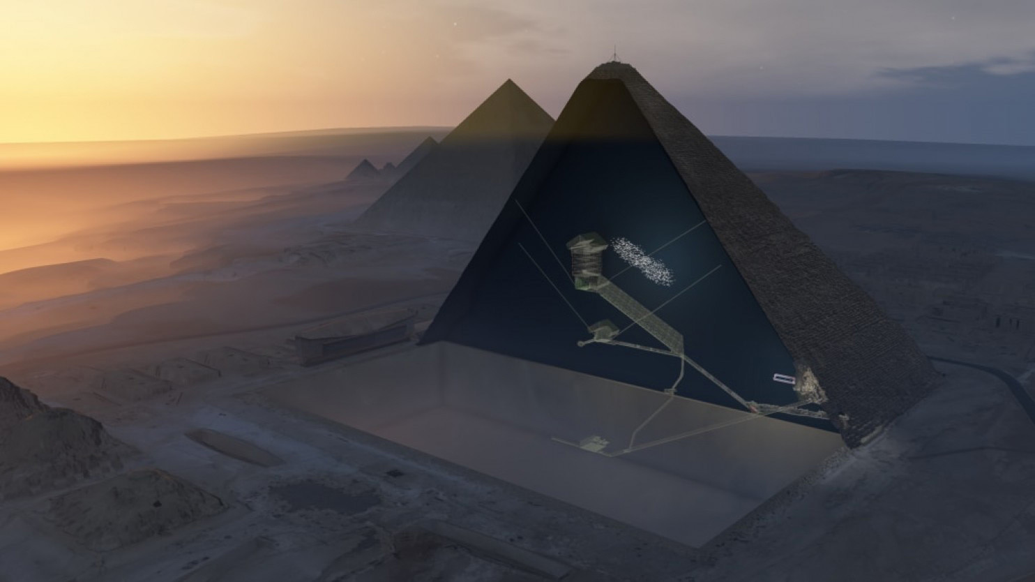 cosmic rays reveal mysterious void in egyptu0027s great pyramid chicago tribune