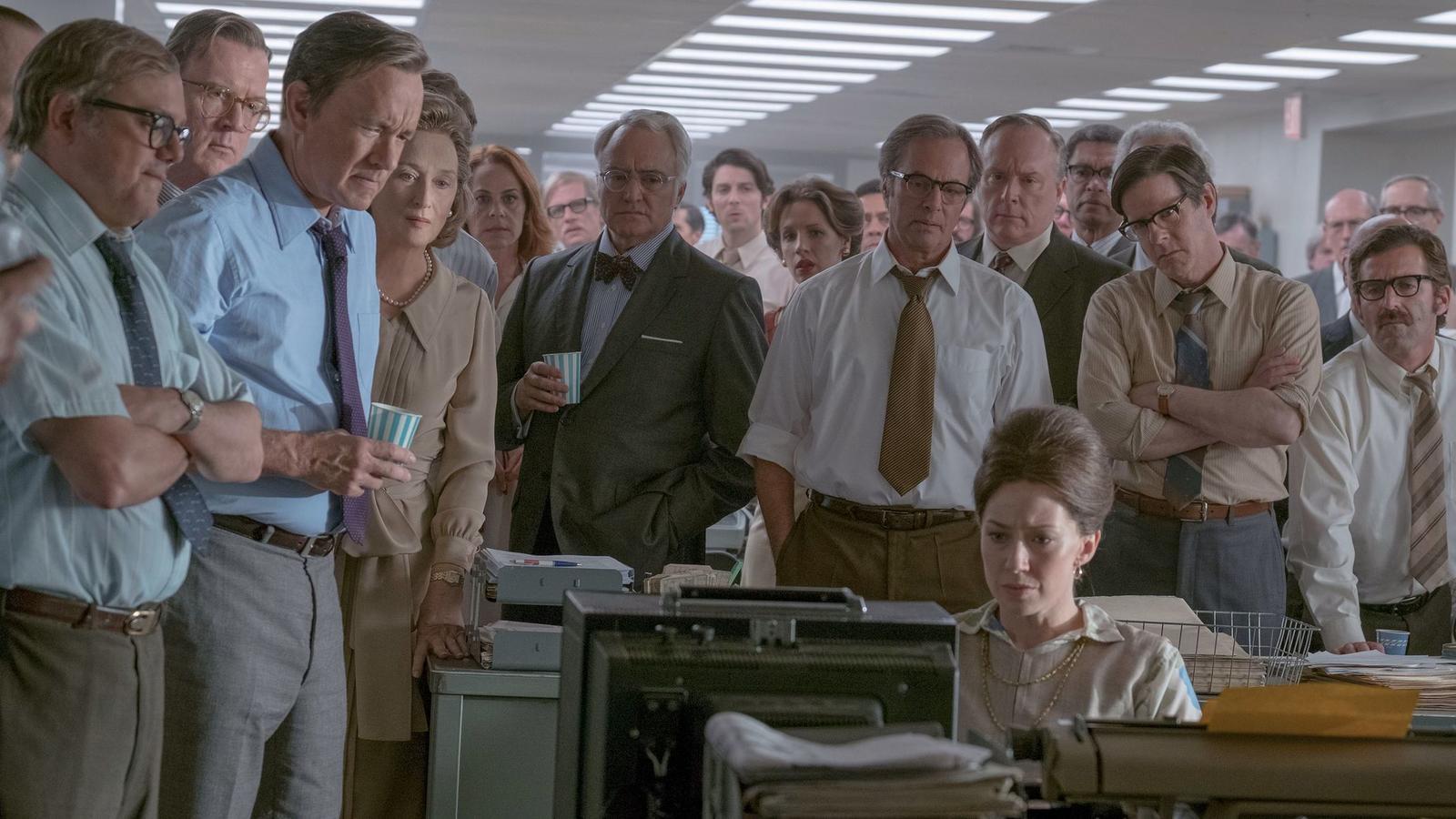 "A scene from Steven Spielberg's ""The Post,"" starring Meryl Streep and Tom Hanks. (Niko Tavernise / 20th Century Fox Studios)"