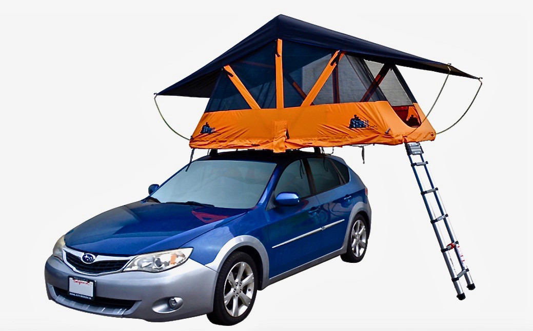 PENTHOUSE CAMP VIEW Old style camping: Grab the tent out of the trunk and spend 15-20 minutes strug