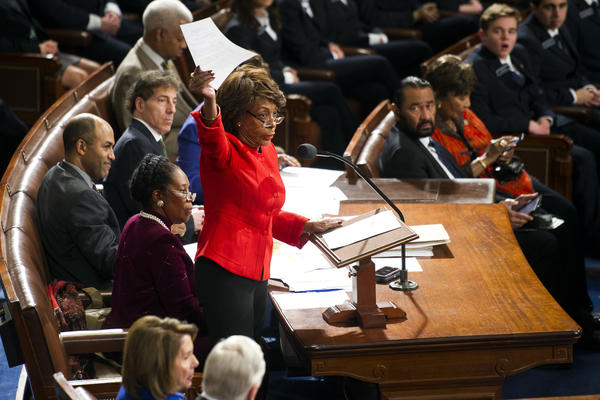 Rep. Maxine Waters (D-Calif.) in Capitol Hill on Washington on Jan. 6. (Cliff Owen / Associated Press)