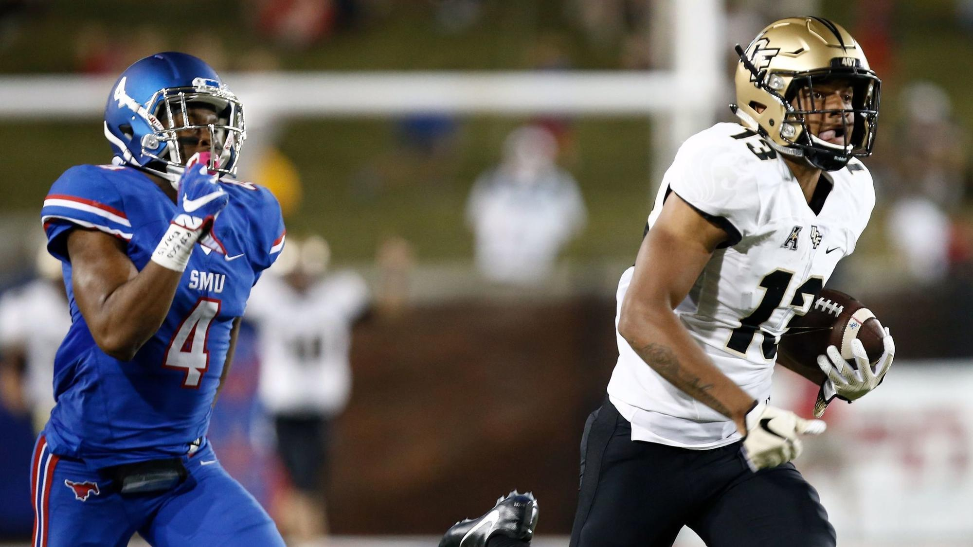 No 18 Ucf Narrowly Passes Road Test Edges Smu Orlando