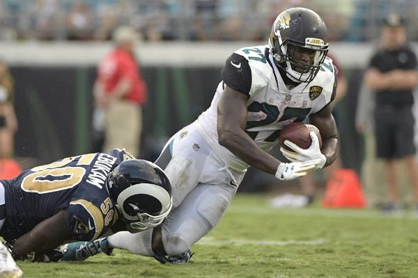 Jaguars running back Leonard Fournette will be inactive for Jacksonville's game against the Cincinnati Bengals on Sunday because of an unspecified violation of team rules. (Phelan M. Ebenhack / Associated Press)