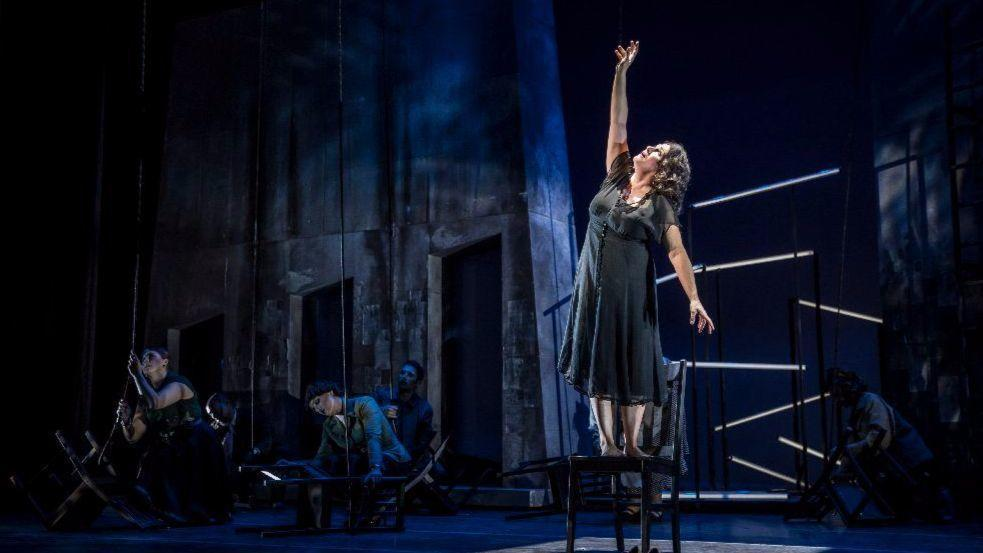 Racette 39 s searing performance elevates melodramatic hokum for Consul performance