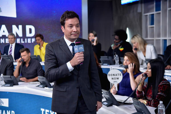 Jimmy Fallon at ABC News' Good Morning America Times Square Studio on September 12, 2017 in New York City. (Theo Wargo / Hand in Hand)