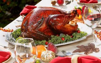 Maple-bourbon smoked turkey