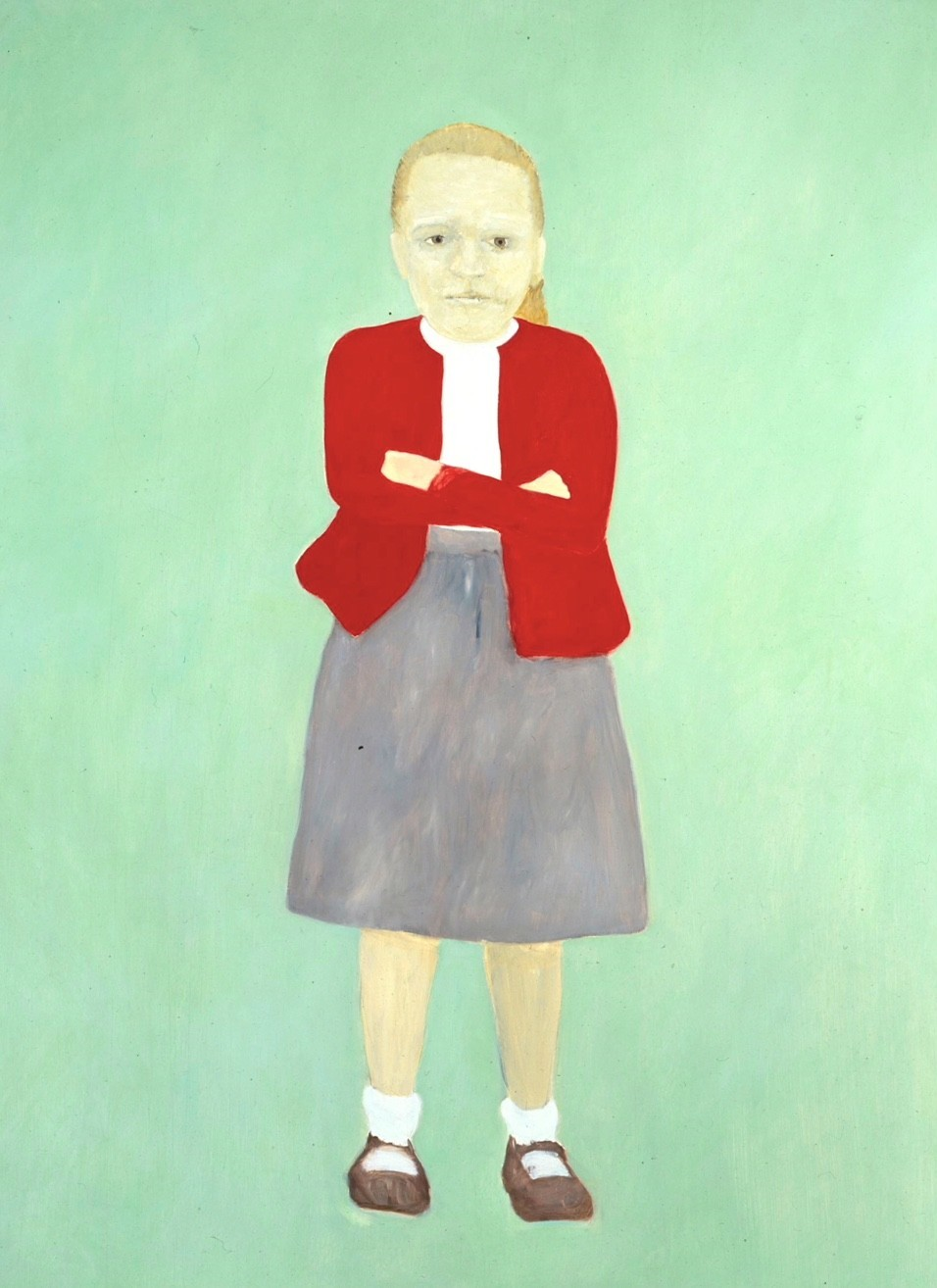 "Kim Dingle's ""Portrait of Ed Sullivan as a Young Girl,"" 1990."