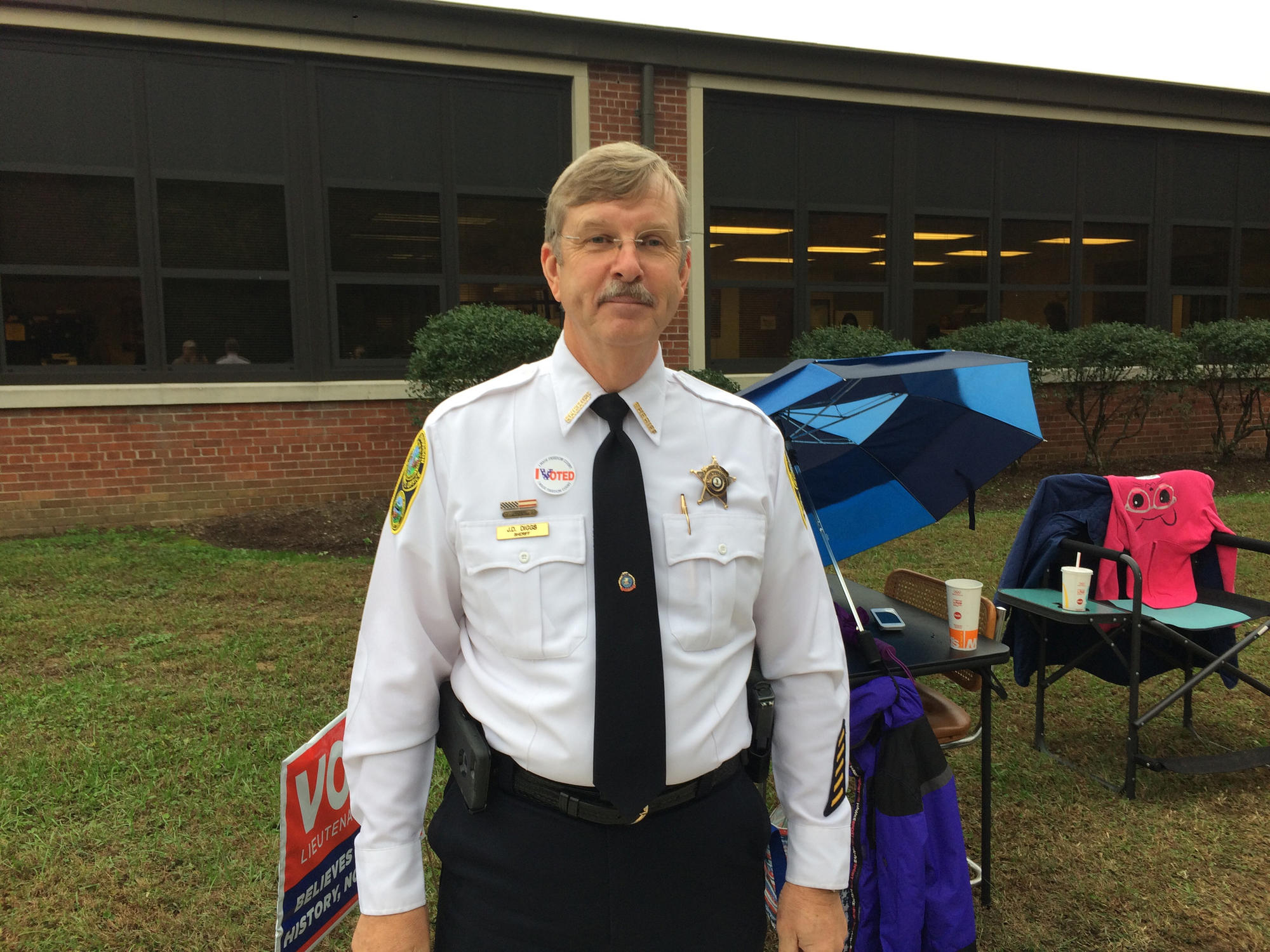 "York-Poquoson Sheriff Danny Diggs says he's been all over the county and turnout is ""pretty good."