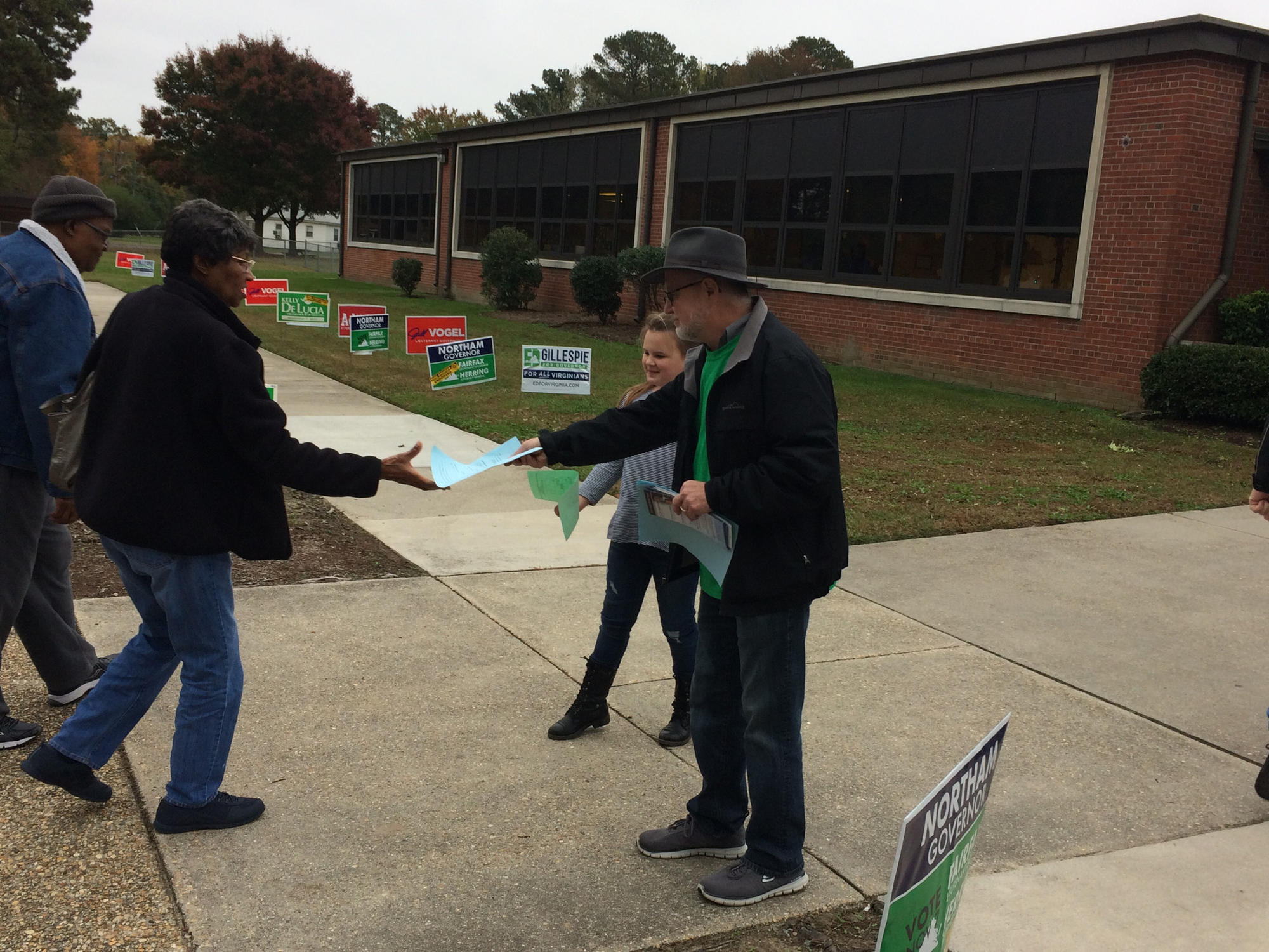 "<p>Chris Mayer, chair of the York-Poquoson Democratic Committee, says turnout in Dem. leaning Magruder precinct has been good and turnout at a GOP leaning precinct he went this morning was not, so he's ""feeling pretty good.""</p>"