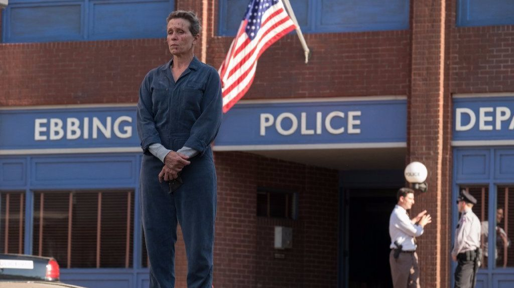 "Frances McDormand in ""Three Billboards Outside Ebbing, Missouri."""