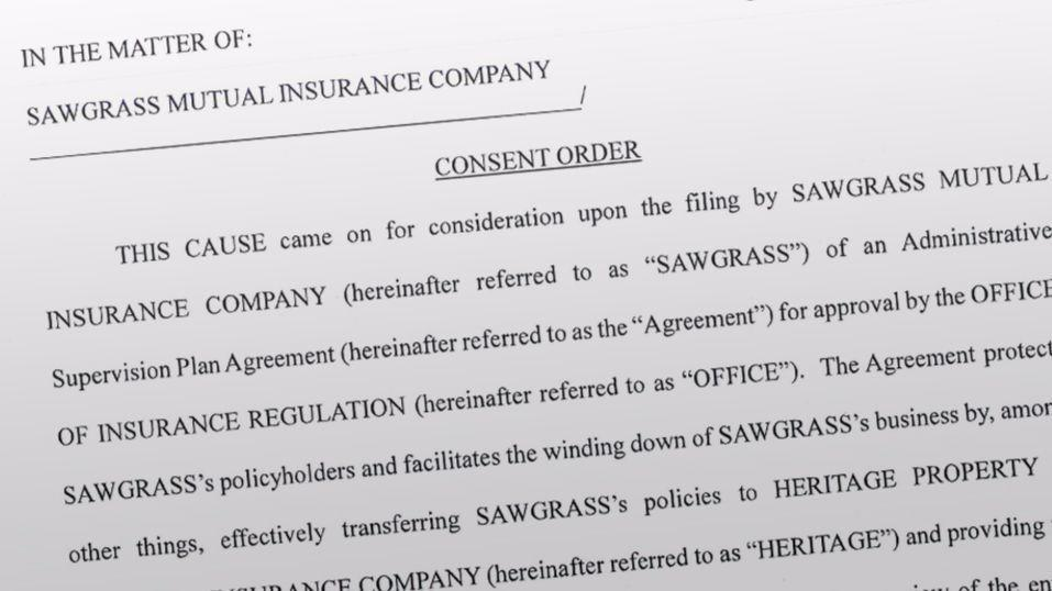 Heritage Takes Over Policies From Troubled Sawgrass Mutual Sun