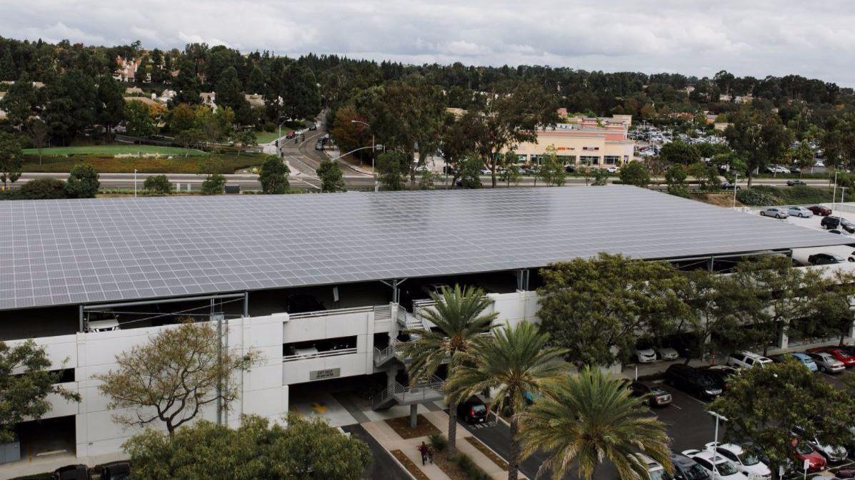 The solar panels at the Carmel Valley Kilroy Centre.