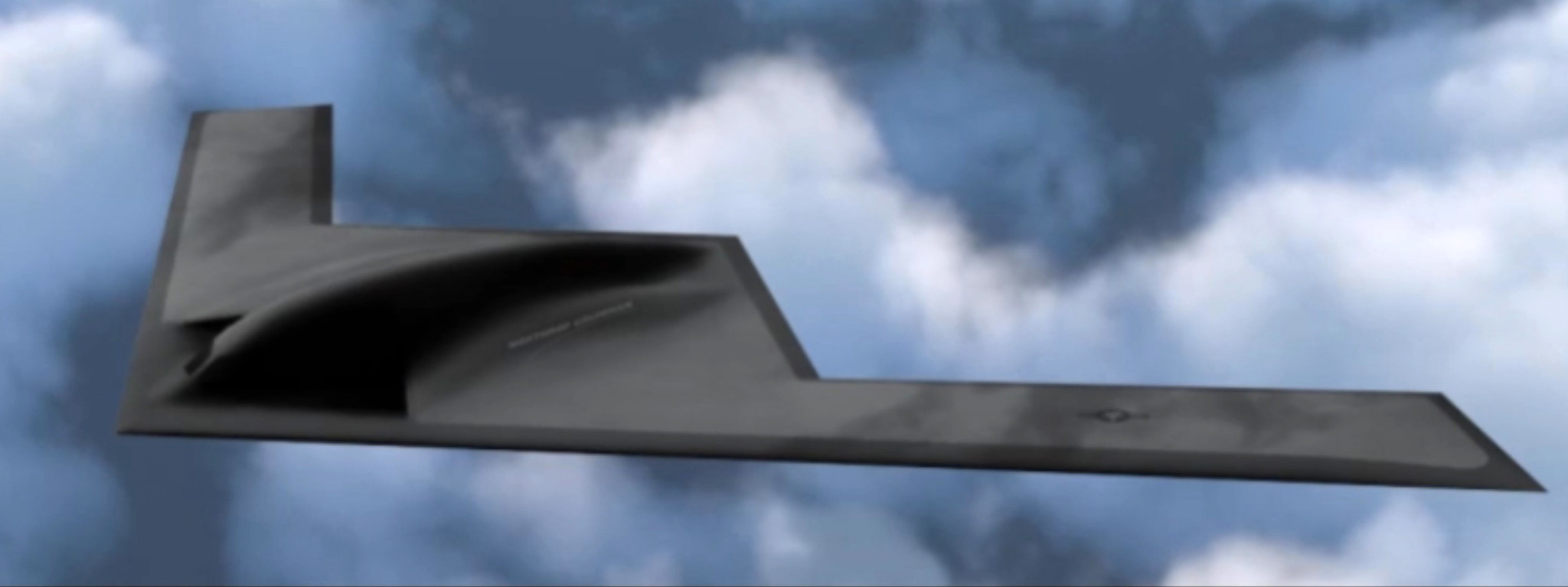 Artist rendering of Air Force's new B-21 bomber.