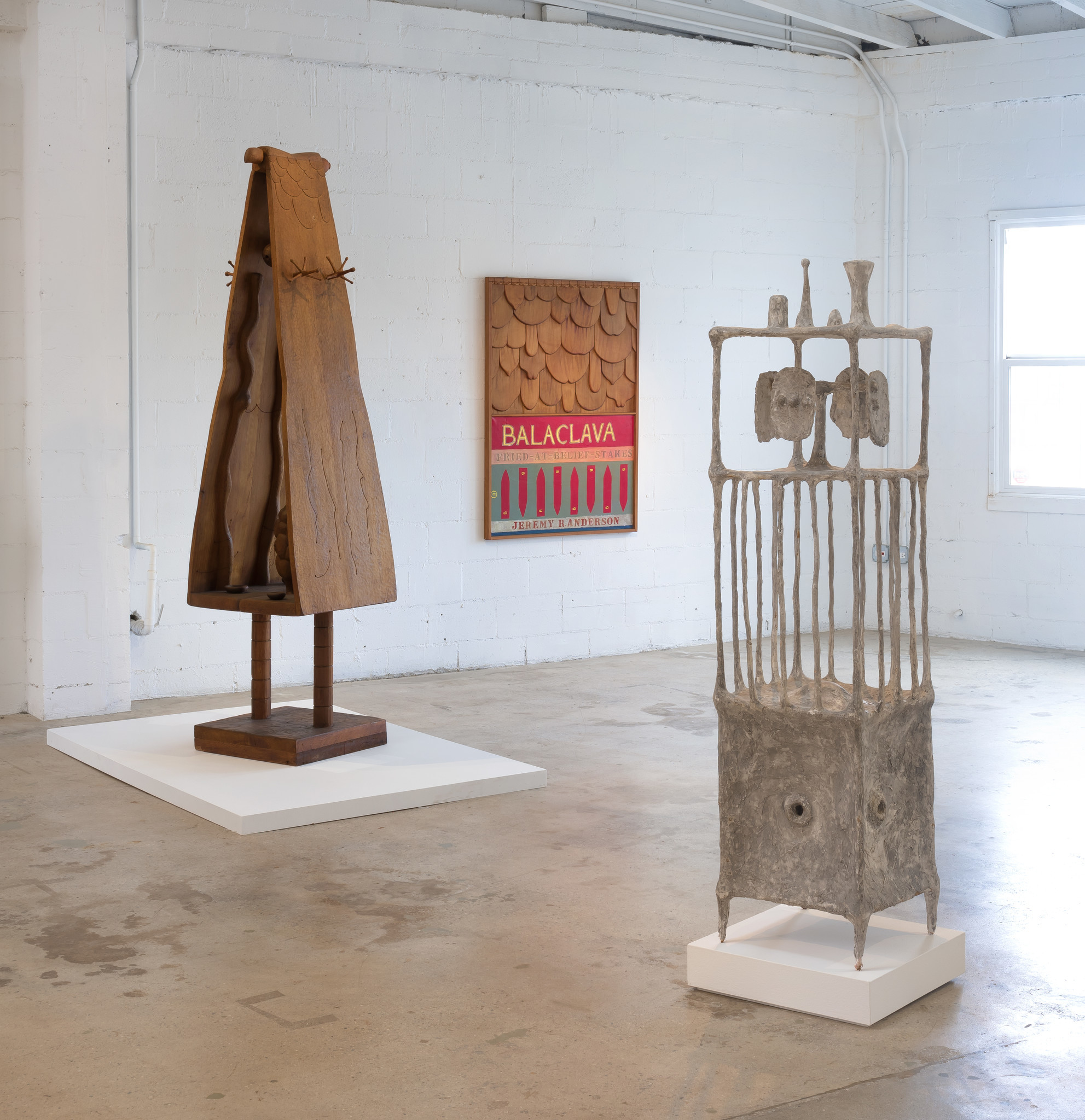 An installation view of sculptures by Northern California artist Jeremy Anderson at the Landing.