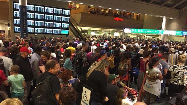 Pictures: Delays at Orlando International Airport after scare