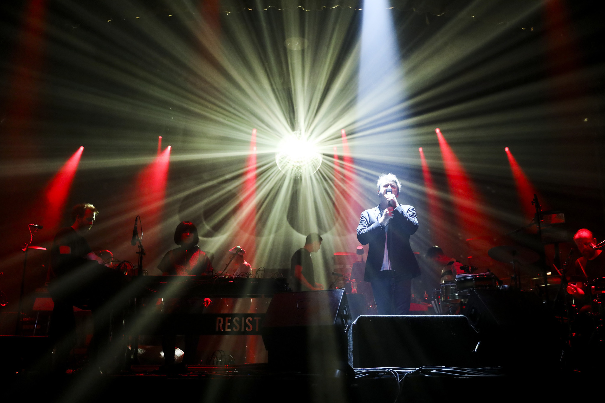 lcd soundsystem and a mirror ball reign supreme at aragon chicago
