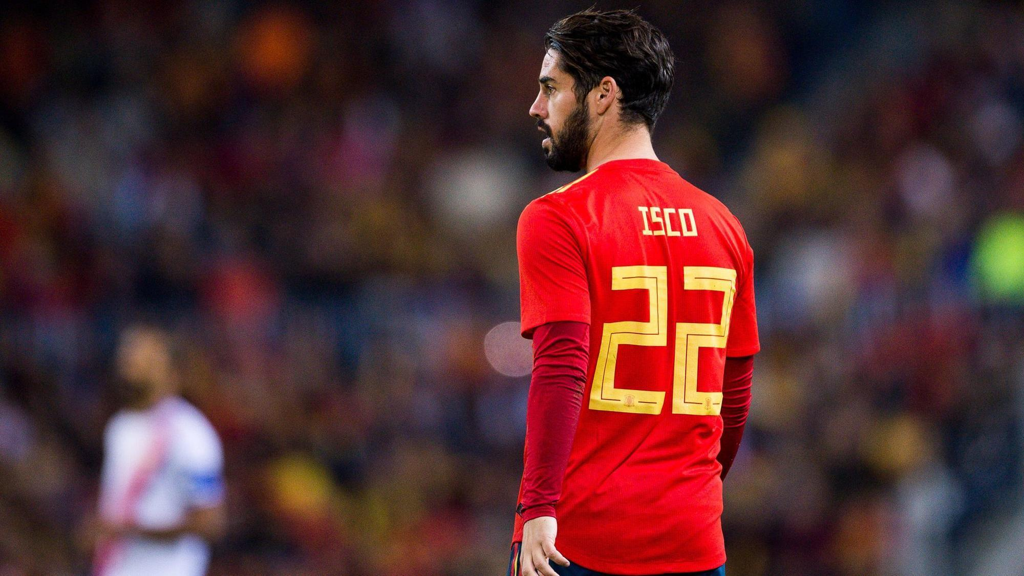 squad of  friendly ahead Isco Spain off Russia pulled