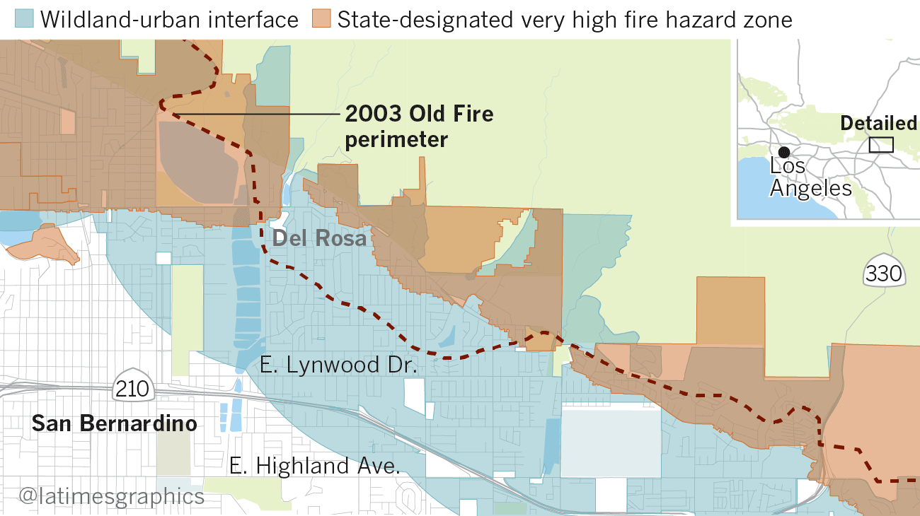 Homes In Southern California Have The Highest Risk Of Fire - Cedar fire map
