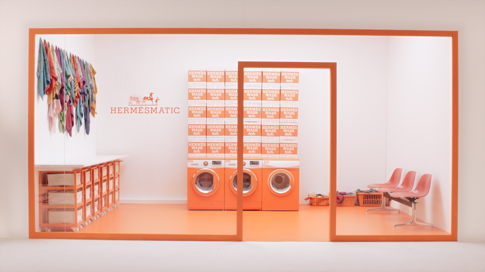 Hermès sets up a laundromat-style scarf pop-up at Westfield Century City; Max Mara to bring 'Wrapped in Luxury' exhibit to Beverly Hills