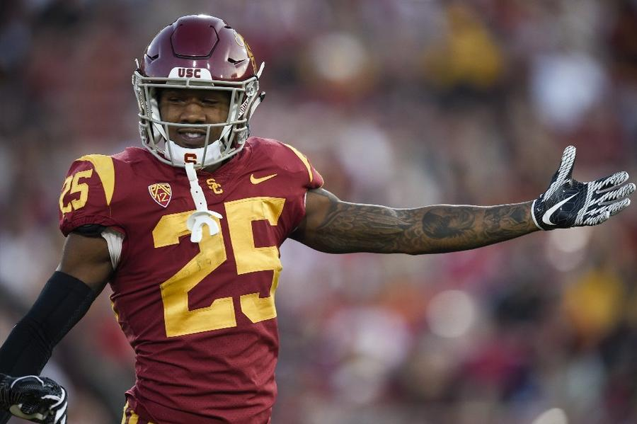 Cornerback Jack Jones of USC, a Long Beach Poly graduate, will be facing off against former high school teammates at UCLA this week. (Associated Press)