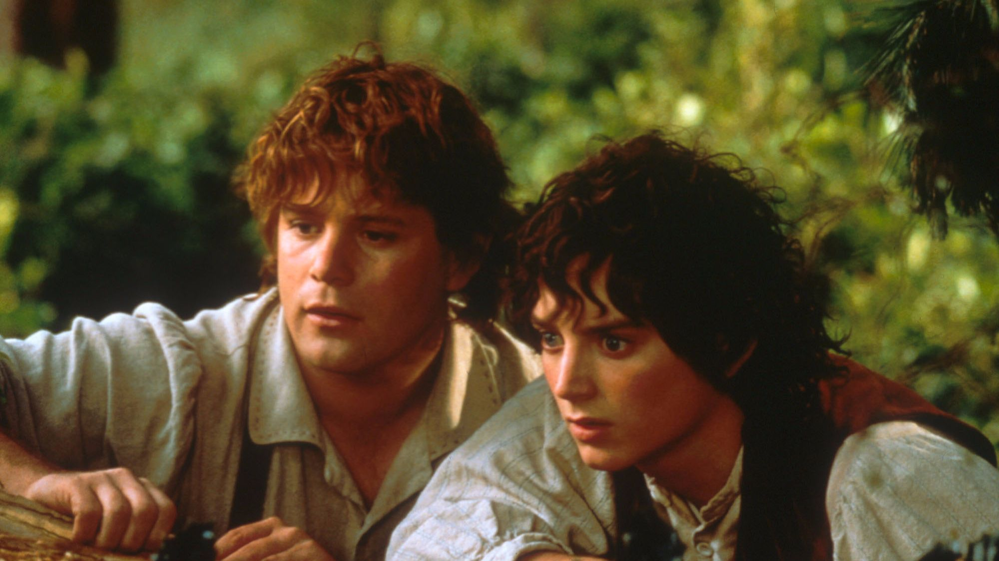 "Sean Astin, left, and Elijah Wood in a scene from ""The Lord of the Rings"" trilogy. Amazon announced it has a television adaptation in the works. None"