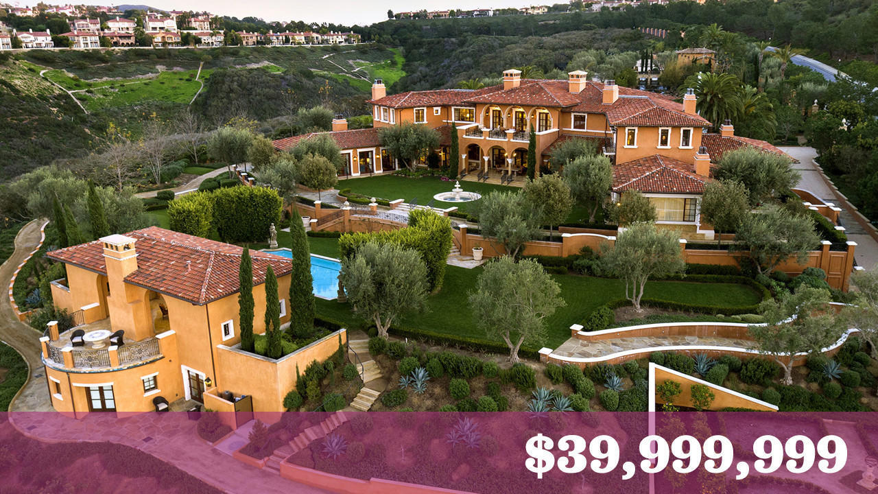 Largest private home parcel in orange county fetches 40 for Most expensive homes in orange county