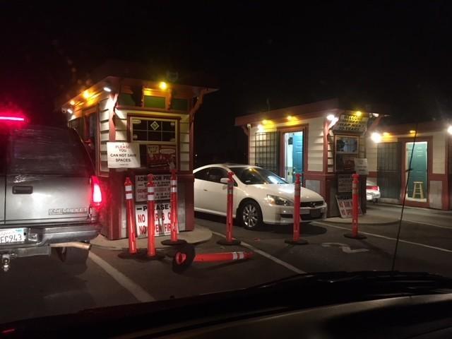 The entrance at the Van Buren Drive-In. (Chris Erskine / Los Angeles Times)
