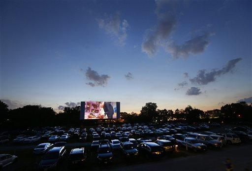 A drive-in theater in 2014 (Associated Press)