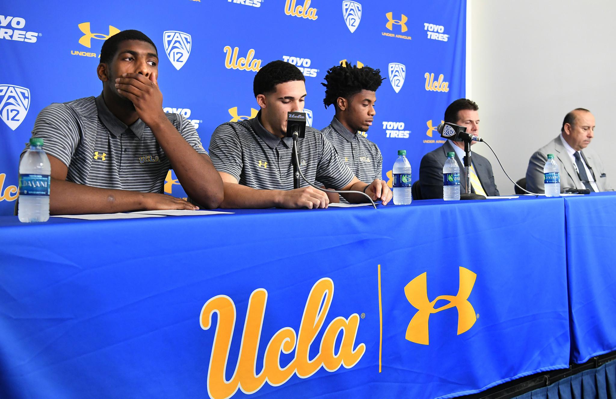UCLA players return home