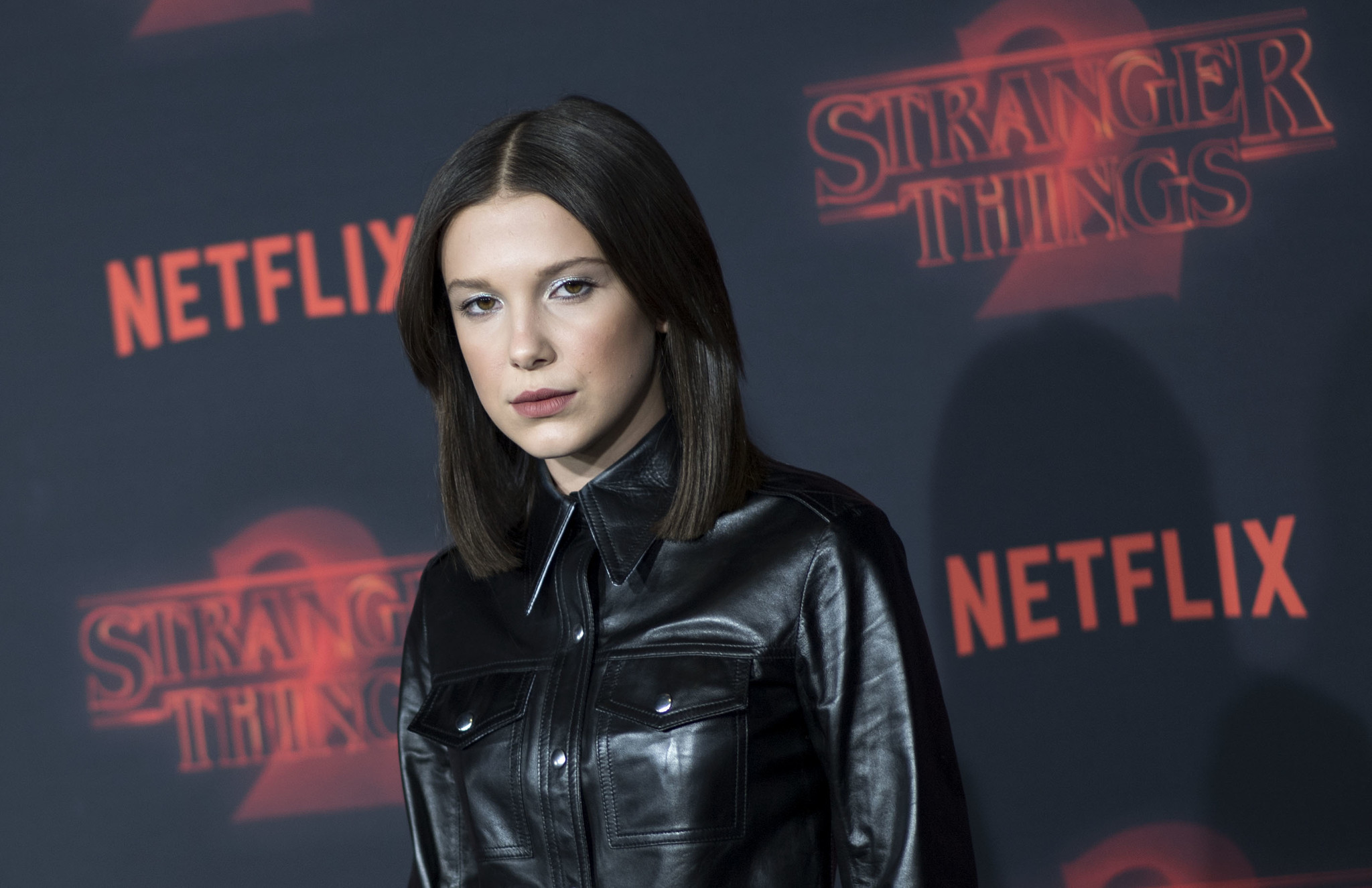 "Millie Bobby Brown attends Netflix's ""Stranger Things 2"" premiere on Oct. 26 in Westwood. Her appearance sparked reactions in social media (Valerie Macon / AFP/Getty Images)"