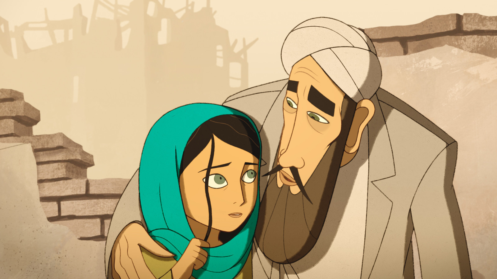 'The Breadwinner' is a striking and affecting animated film set in modern Kabul