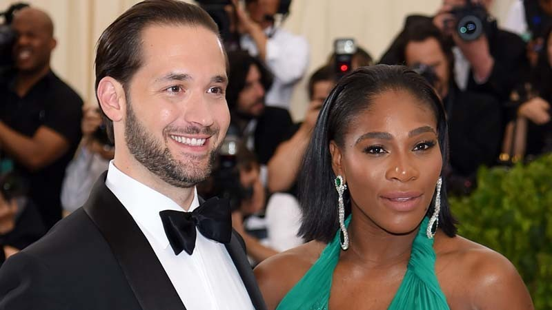 Alexis Ohanian and Serena Williams. (Dimitrios Kambouris / Getty Images)