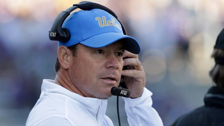 UCLA head football coach relieved of duties