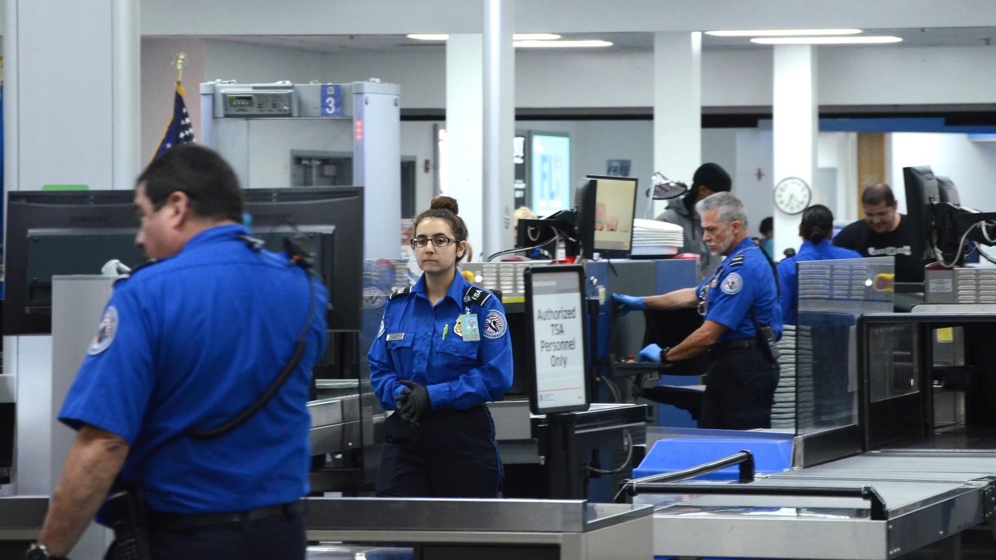 TSA workers, Burbank airport.