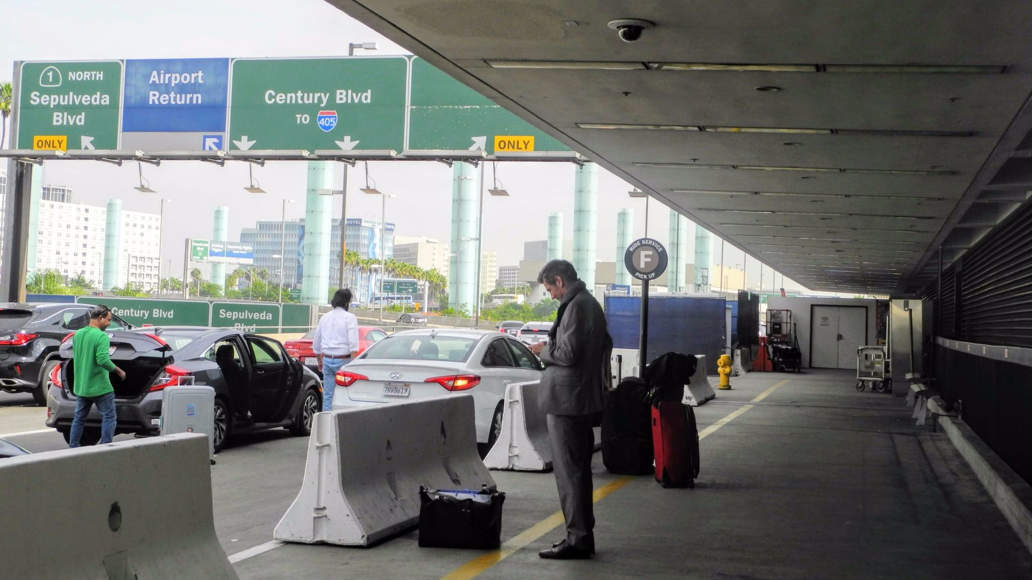 Walk over to Terminal 7 at LAX and meet your rideshare driver under the F sign. This allows the driv