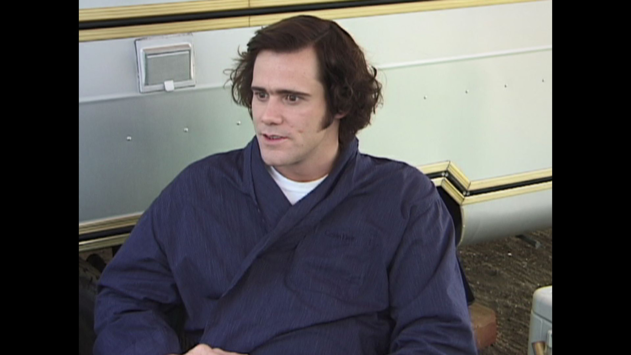 "Jim Carey in a scene from the documentary movie ""Jim and Andy: The Great Beyond — Featuring a Very"