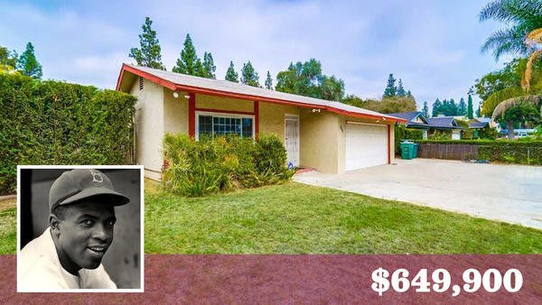 Pasadena address is where baseball great Jackie Robinson once lived