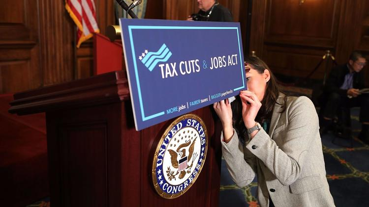 The House passed the Republican tax bill last week on Capitol Hill. (Chip Somodevilla / Getty Images) None