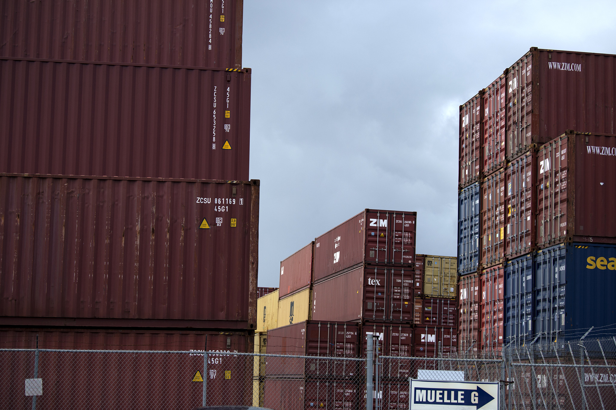 Shipping containers in the port in San Juan have been stacked twice as high as normal since relief supplies began to inundate the capital city port. The shipping container sent by Elliot Matos arrived to San Juan and then to Caguas on schedule.