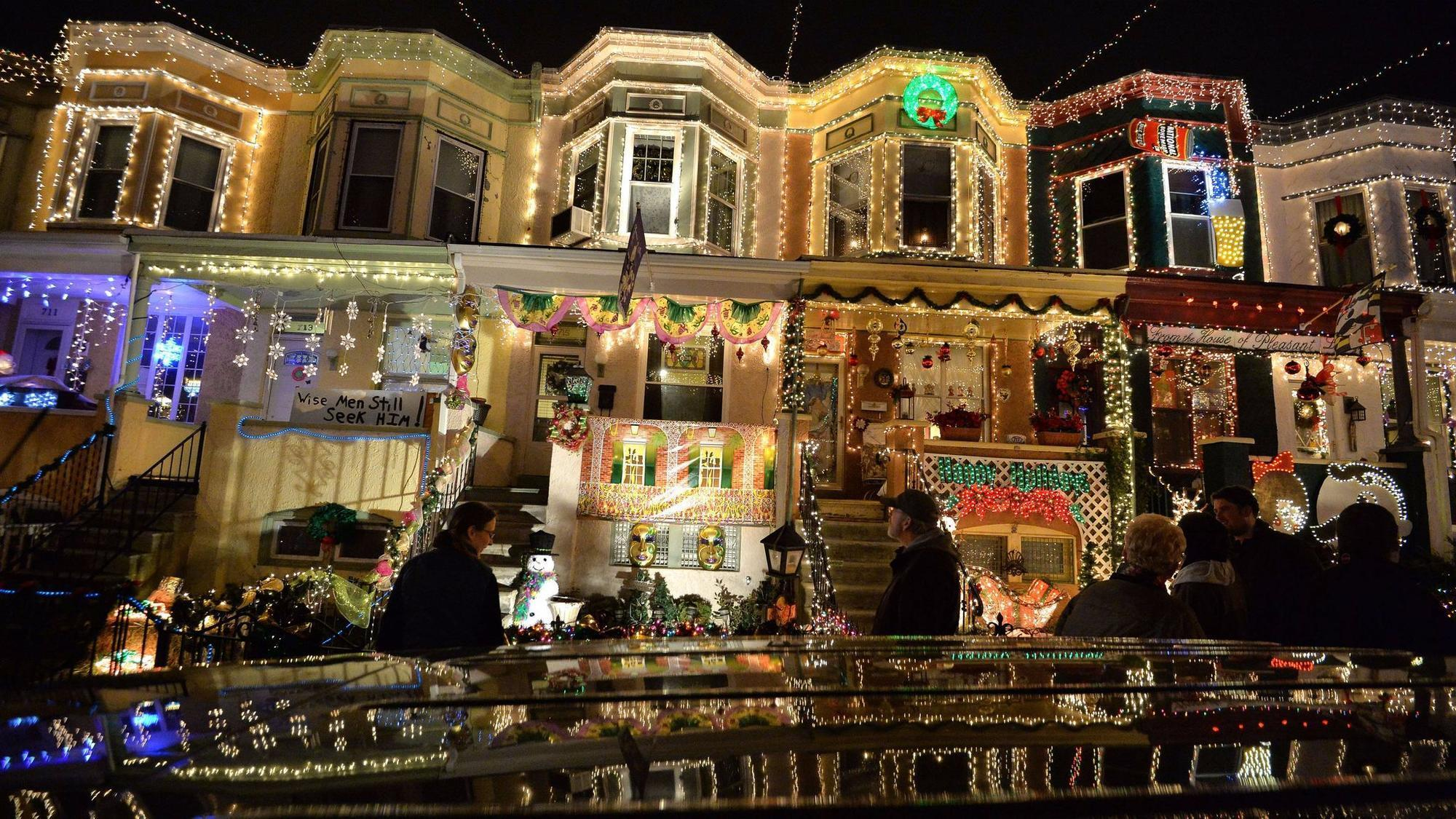 hampdens miracle on 34th street named most outrageous christmas lights in maryland baltimore sun
