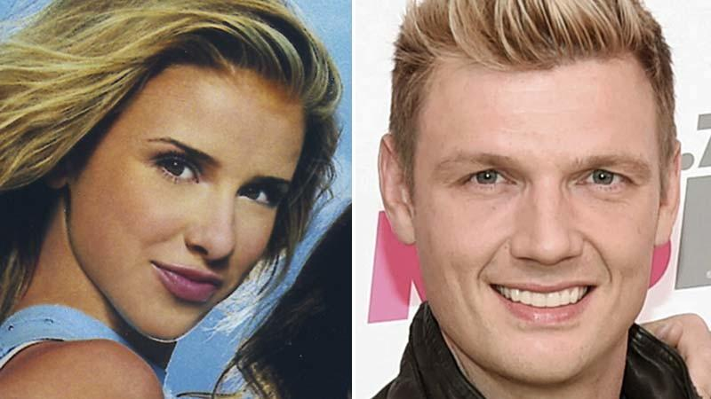 Melissa Schuman is seen in 2001 when she was with Dream; Nick Carter appears in 2017. (Arista Records, left; Richard Shotwell / Associated Press, right)