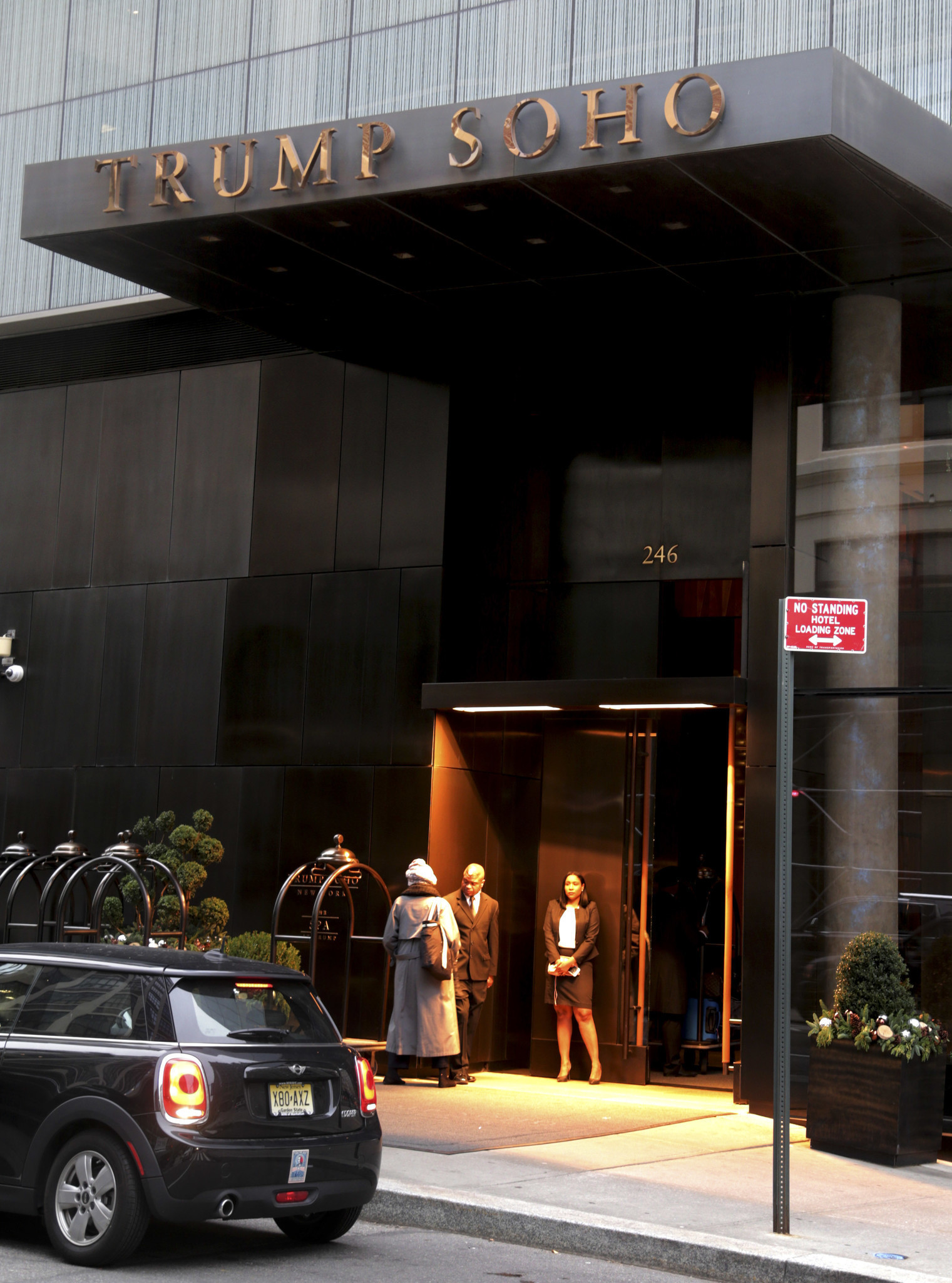 Trump's name is coming off his SoHo hotel as politics weigh on president's brand