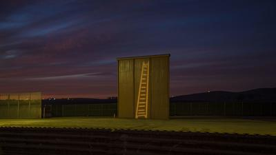 Border wall prototypes become canvas for light graffiti