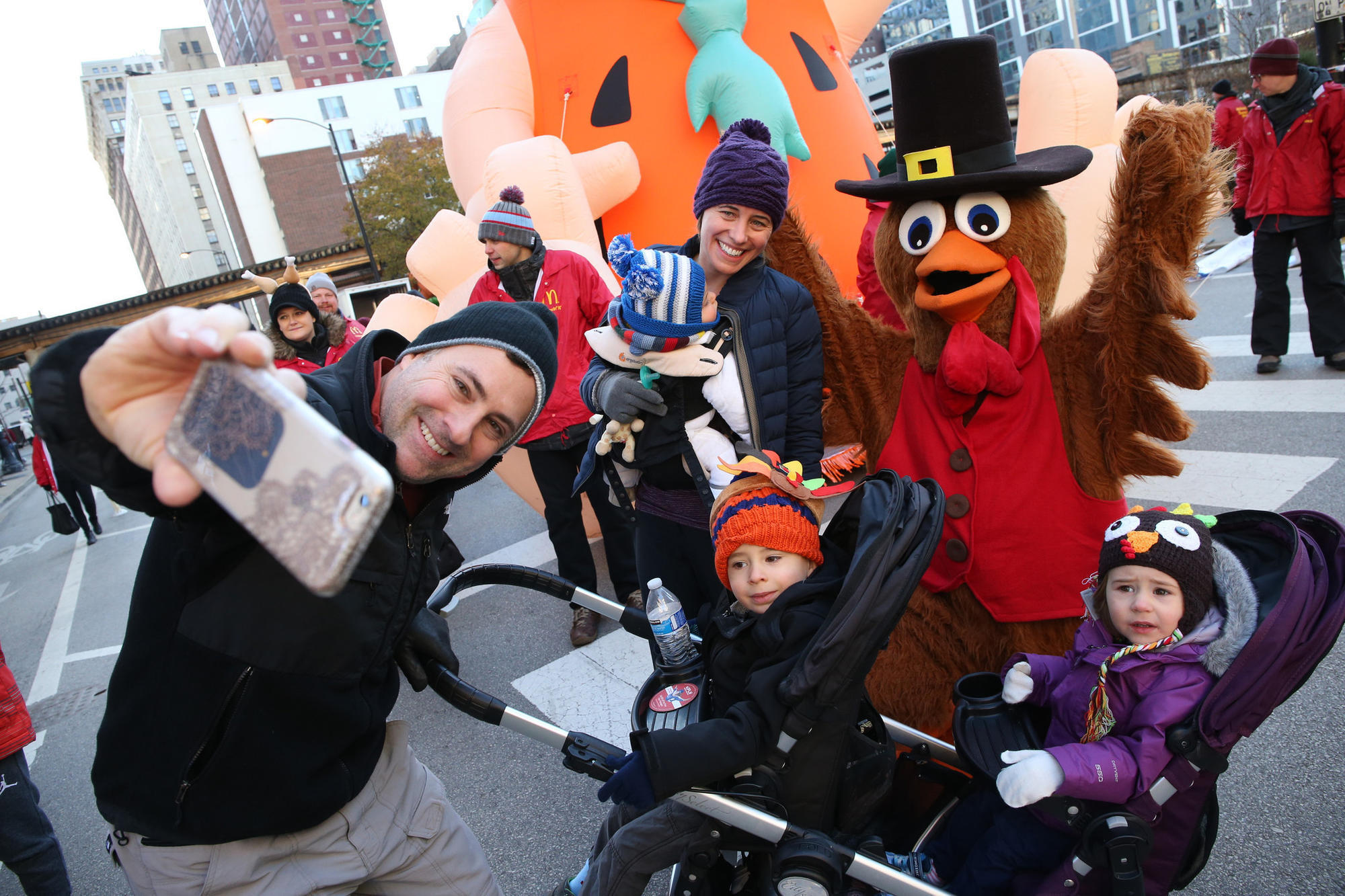 Thanksgiving Day Parade starts in the Loop at 8 a.m.