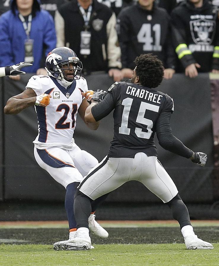 Michael Crabtree Aqib Talib >> Raiders' Michael Crabtree, Broncos' Aqib Talib ejected after fight - LA Times