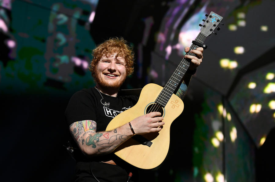 Ed Sheeran performs at the Staples Center in August. (Wally Skalij / Los Angeles Times)