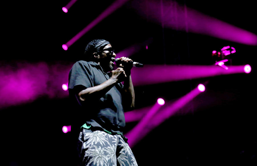 Rapper Q-Tip of A Tribe Called Quest performs during FYF Fest in Exposition Park in Los Angeles this summer. (Gary Coronado / Los Angeles Times)