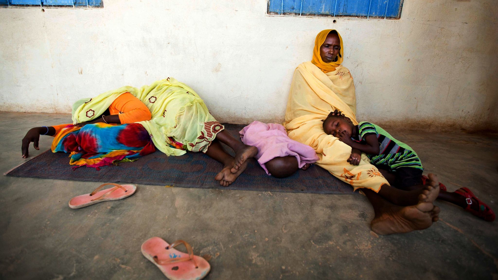 Women & children waiting for treatment in North Darfur, Sudan.