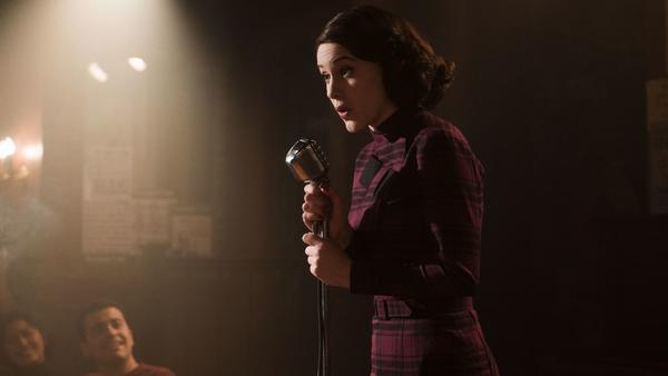 "Golden Globe nominee Rachel Brosnahan as Midge Maisel in ""The Marvelous Mrs. Maisel."" (Amazon)"